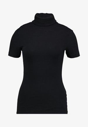 SHORT SLEEVE ROLL NECK - Print T-shirt - black