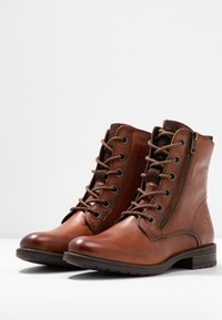 Bugatti - RONJA - Lace-up ankle boots - cognac - 4
