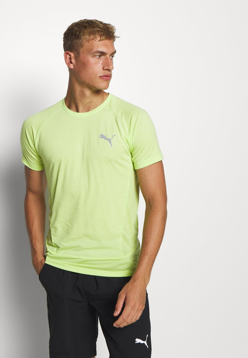 Puma - EVOSTRIPE TEE - Camiseta básica - sharp green