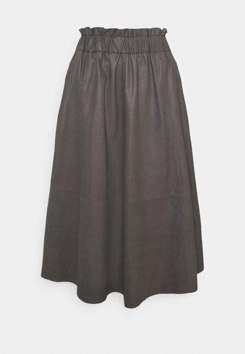 LONG SKIRT - A-line skirt - concrete