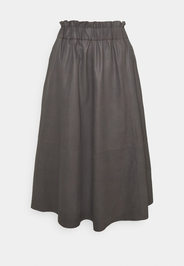 LONG SKIRT - A-line skirt - concrete