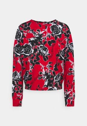 Sweatshirt - red/nera