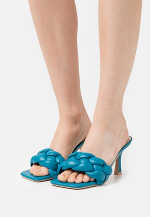 SANDRA - Heeled mules - blue