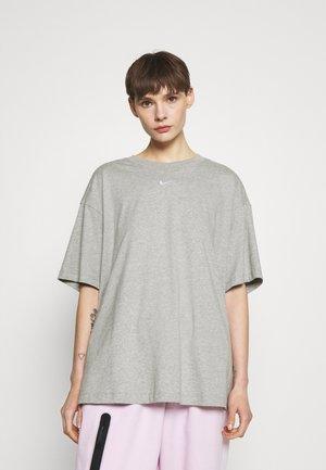T-shirt - bas - grey heather/white