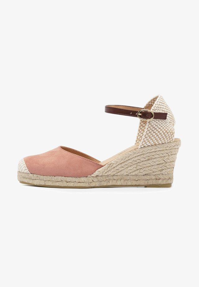 MEDIA ESPARTO ULTRASUEDE - Platform sandals - rosa