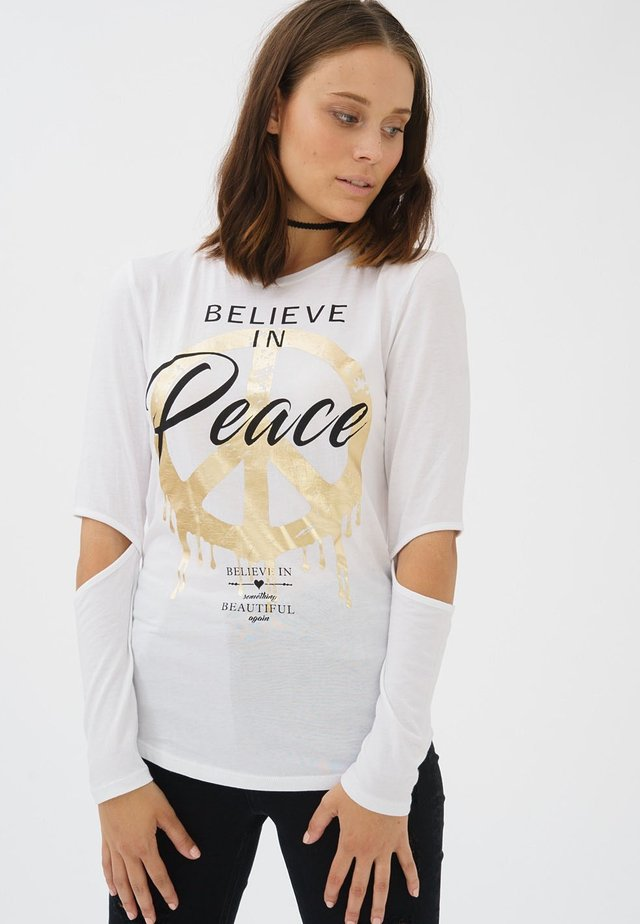 BELIEVE - Long sleeved top - white