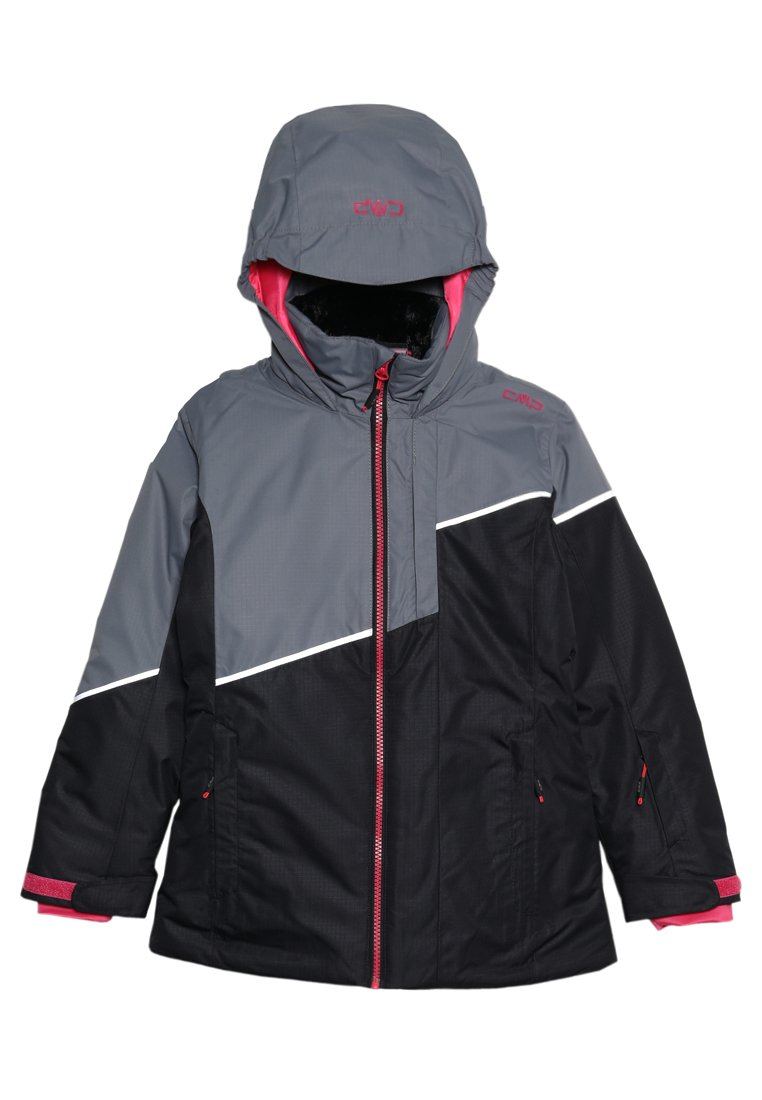 CMP Giacca Sci Snowboard Giacca GIRL JACKET Snaps Hood Rosso Impermeabile Traspirante