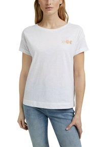 Esprit - Print T-shirt - white - 4