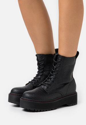 VEGAN DOC SIBEL - Platform ankle boots - black