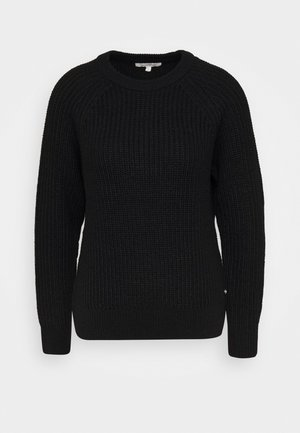 HALFCARDIGAN - Jumper - deep black