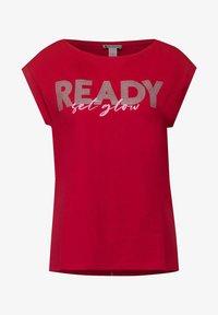 Street One - Print T-shirt - rot - 3