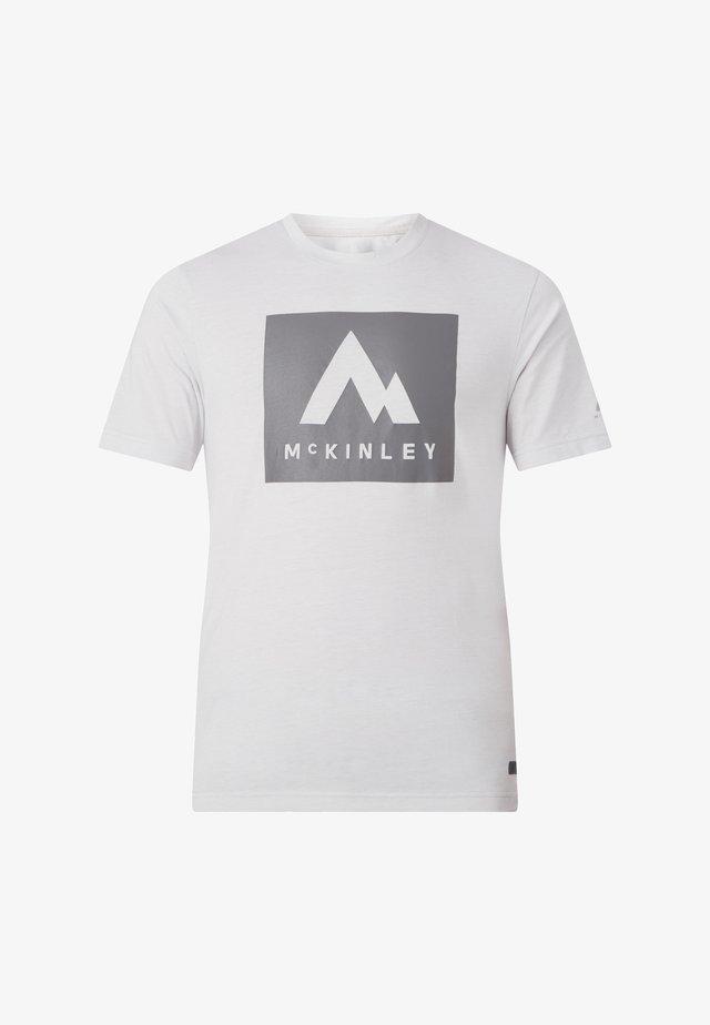 Print T-shirt - melange/greylight