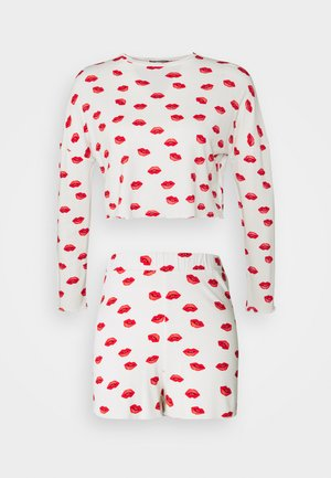 LIPS FRILL SHORT SET - Pyjama - white