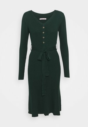 Strickkleid - dark green