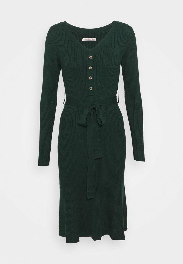 Sukienka dzianinowa - dark green