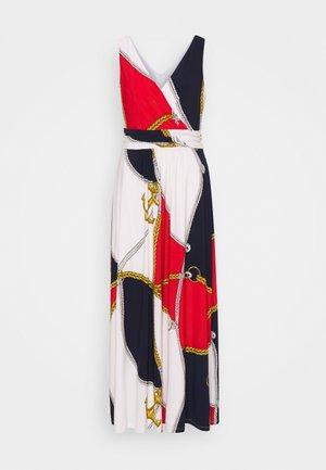 ABAGAIL DRESS - Maxi dress - navy/bright hibiscus