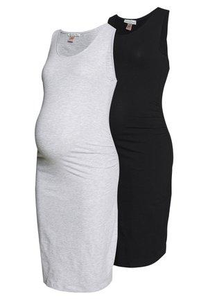 2 PACK - Vestido de tubo - light grey/black