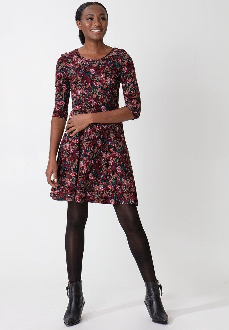 Indiska - BERRY  - Vestito di maglina - burgundy