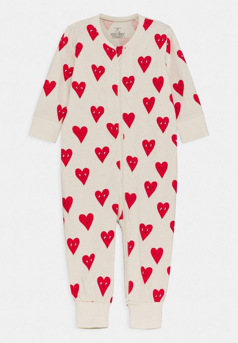 Lindex - HEART UNISEX - Pyjamas - beige