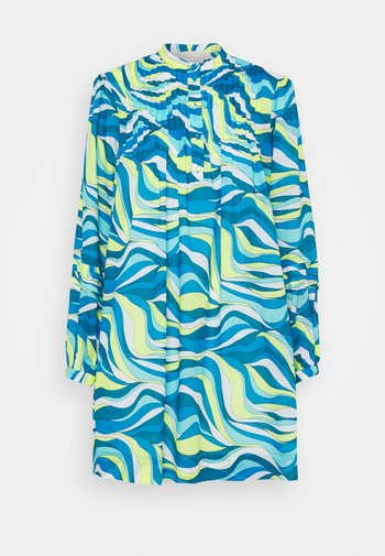 SWIRL MINI SHIFT DRESS