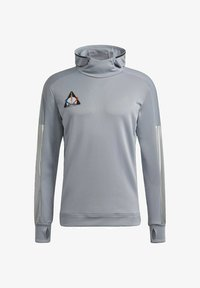 adidas Performance - SPACE PRIMEGREEN SWEATSHIRT HOODIE RUNNING - Hoodie - grey - 4