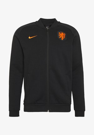 NIEDERLANDE KNVB - National team wear - black/safety orange