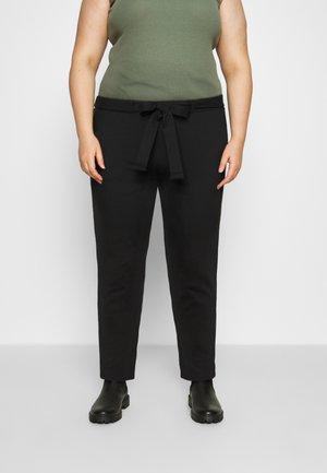 CARPEVER BELT PANT - Trousers - black/piping