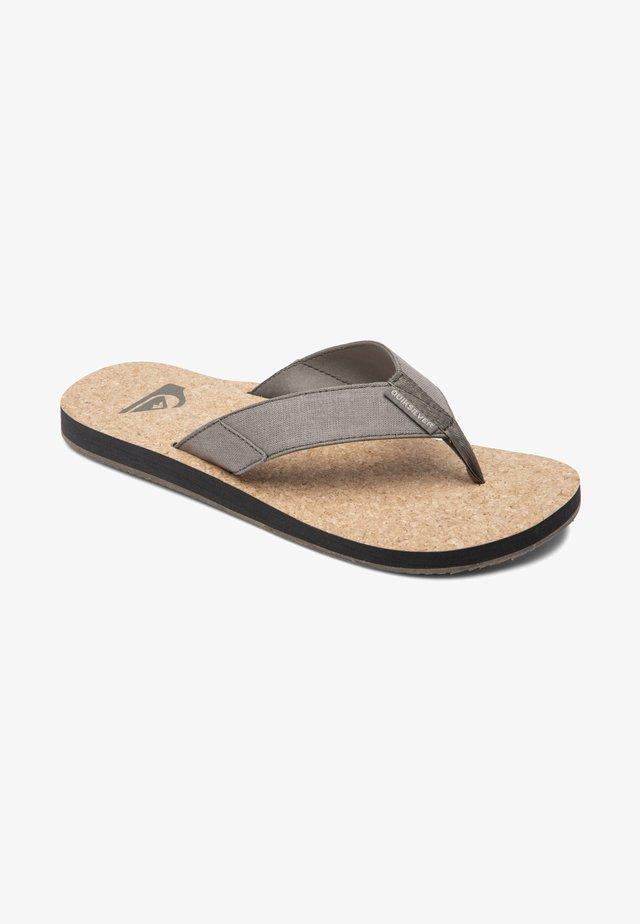 MOLOKAI ABYSS NATURAL - T-bar sandals - green/green/green