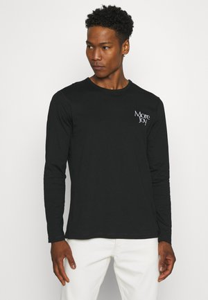 EMBROIDERED CLASSIC LONG SLEEVE UNISEX - Long sleeved top - black/white