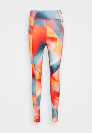 ONPFIMAL TRAIN - Leggings - balsam/fiesta/gray mist