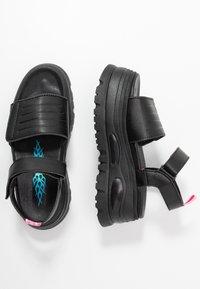 Coolway - GRAVITY - Platform sandals - black - 3