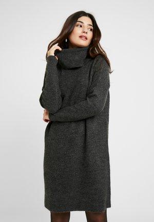 ONLJANA DRESS - Pletené šaty - dark grey melange