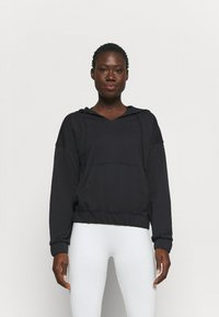 Nike Performance - CORE COLLECTION COVERUP - Jersey con capucha - black/smoke grey - 0