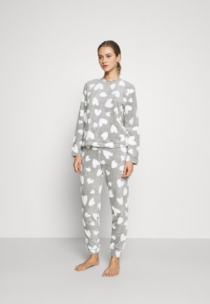 ONLCAYA NIGHTWEAR SET - Pyjama set - light grey melange