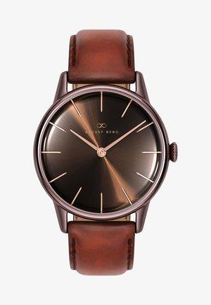 UHR SERENITY CUPPA BROWN DARK BROWN LEATHER 32MM - Watch - sunray brown