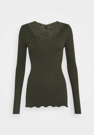 Long sleeved top - black green