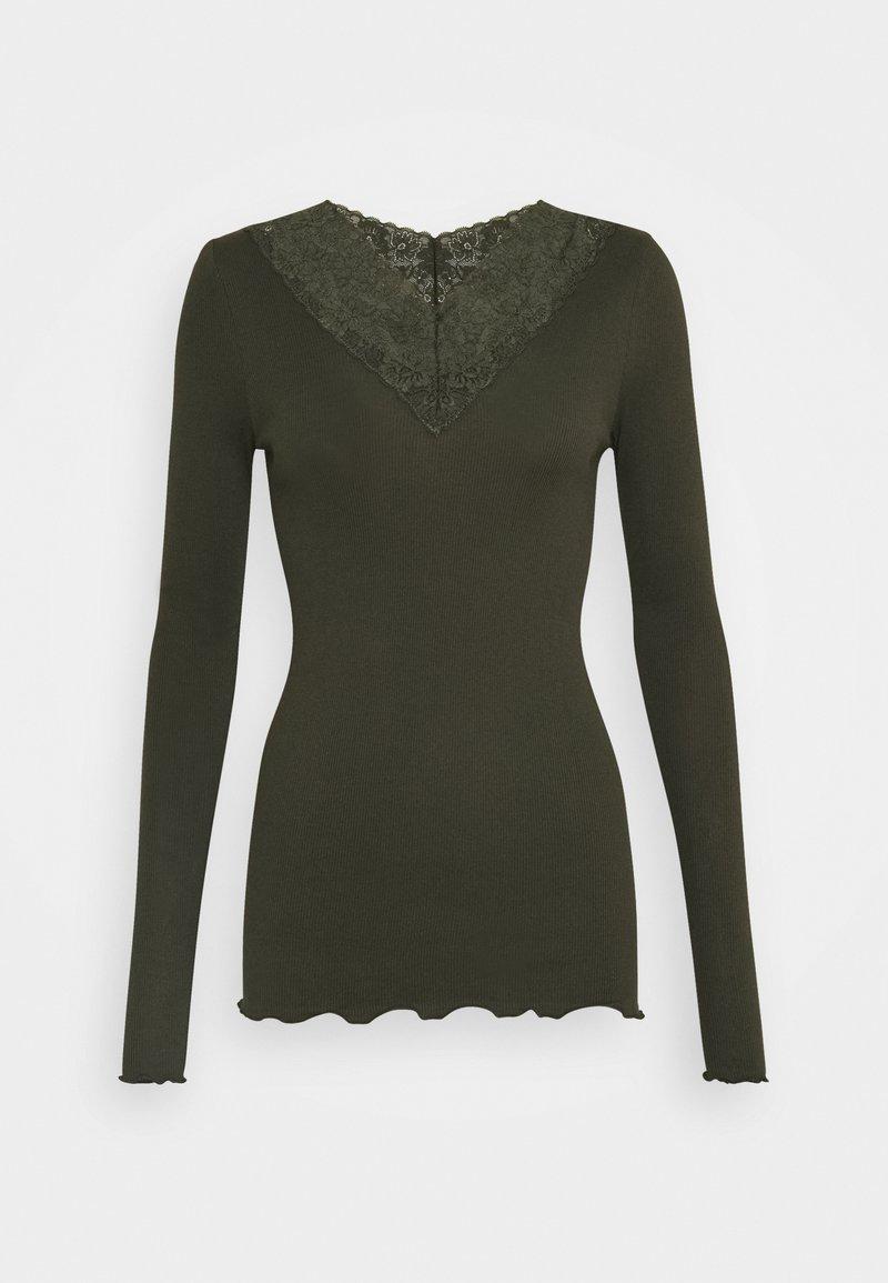 Rosemunde - Top sdlouhým rukávem - black green