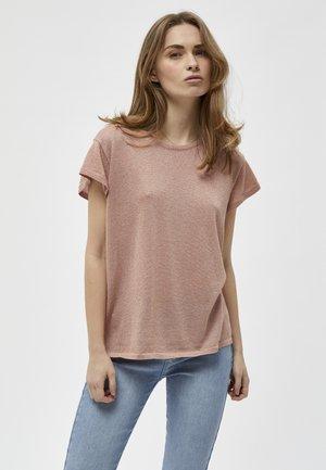 CARLINA  - T-shirt basique - powder rose lurex