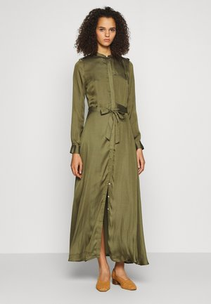 TRENCH MAXI DRESS - Vestito lungo - jungle olive