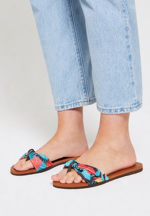 YOU TROPEZ - Pool shoes - brown  multicolored