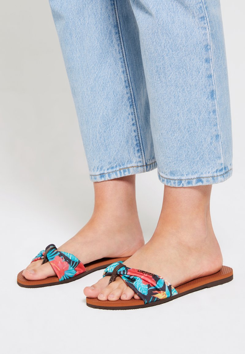 Havaianas - YOU TROPEZ - Pool shoes - brown  multicolored