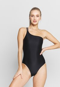 Filippa K - ASYMMETRIC SWIMSUIT - Swimsuit - black - 1