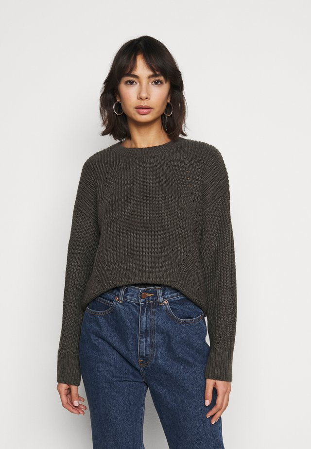 FASHIONED JUMPER - Pullover - mid grey