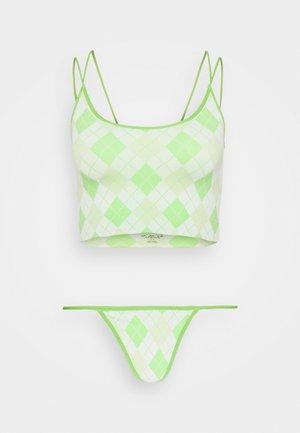 MARKIE DESIGN SET - Brassière - green argyle
