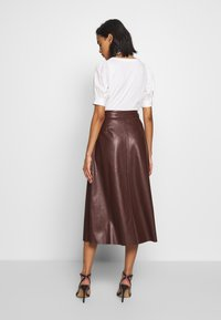 Who What Wear - MIDI SKIRT - A-line skirt - coffee - 2