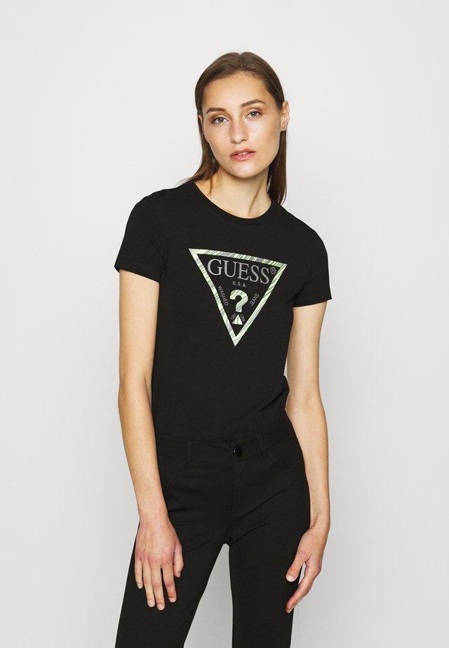 T-shirt imprimé - jet black