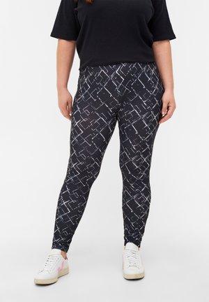 Leggings - Trousers - grey graphic aop