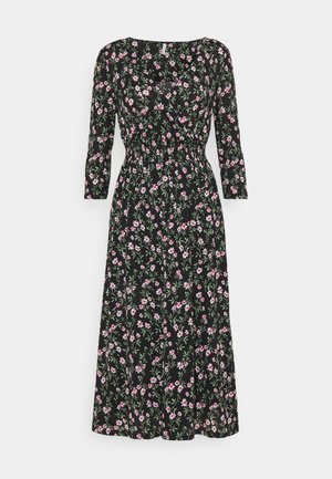 ONLPELLA DRESS - Kjole - black/flowering vines