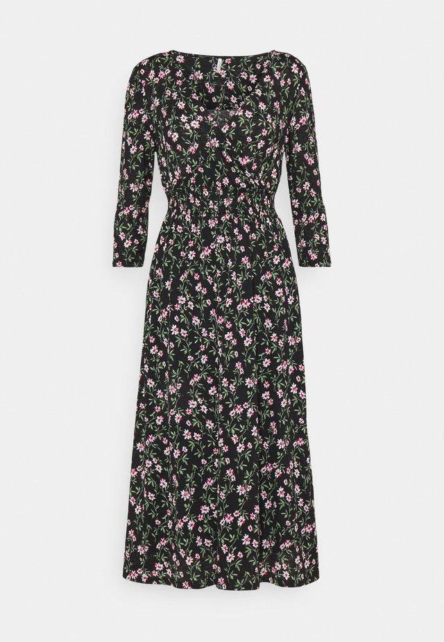 ONLPELLA DRESS - Korte jurk - black/flowering vines