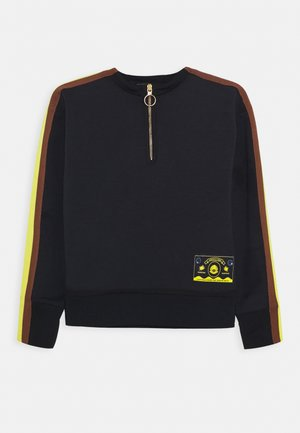 CREWNECK WITH TAPED SLEEVES - Sweater - navy